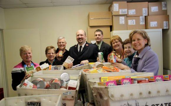 Salvation Army food dropoff