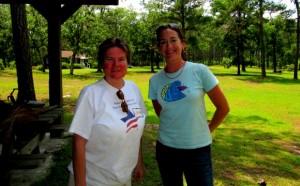 Laura Johnson and Melissa Patrick at Cool Springs Environmental Education Center