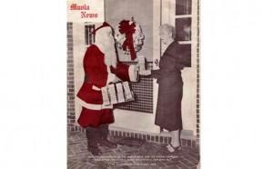 Maola Santa visits Riverside 1957