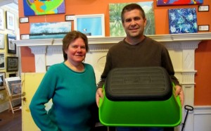 Laura Johnson and Ron Pontiff with the Safe-T-Stool