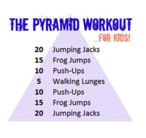 Kid pyramid workout