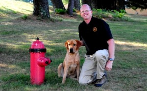 K-9 Darby and Fire Marshal Danny Hill