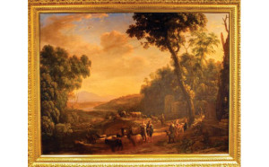 """Pastoral Landscape with Huntsmen"" by Claude Lorrain"