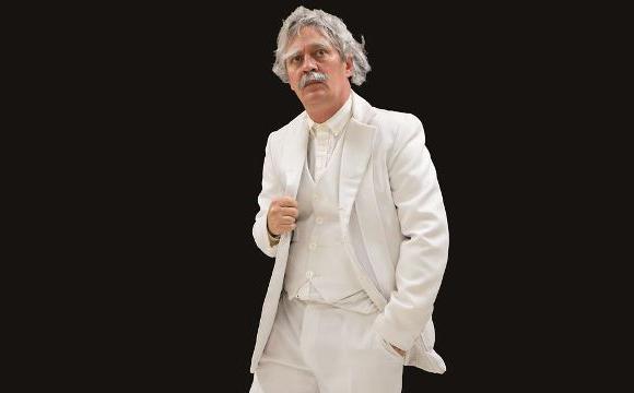 Bill Hand as Mark Twain