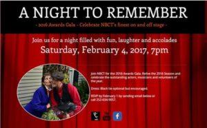New Bern Civic Theatre Gala 2017
