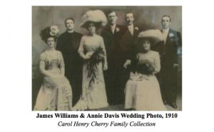James Williams and Annie Davis Wedding Photo