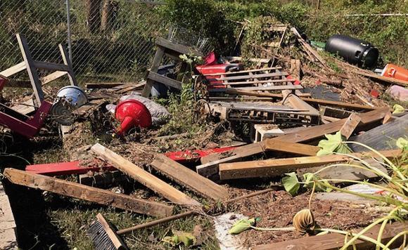 Veterans Organic Garden Hurricane Florence