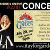 Enjoy the sweet sultry sounds of Andrea Owens Jazztet in the Isaac Taylor Garden on July 20, 2013