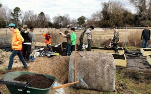 Eagle Scouts at New Bern's Food Bank Community Garden