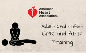 AHA CPR/A.E.D. Heartsaver Course