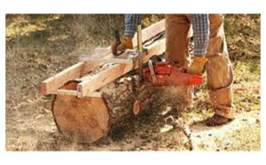 Chainsaw Sawmill Demonstration