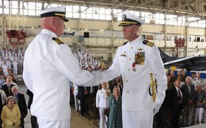 Captain Douglas Stephens Change of Command