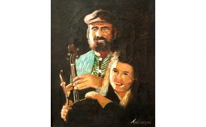 Simon and Sara Spalding (oil painting by Willie Taglieri)