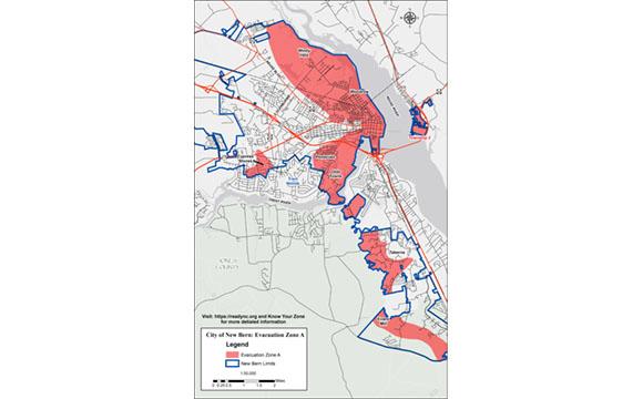 City of New Bern Evac Zone A