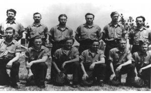 German U-boat crew as POWs. (Credit: NCpedia)